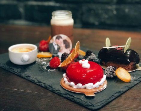 Customized photo dessert for Valentine's Day at BRICK LANE