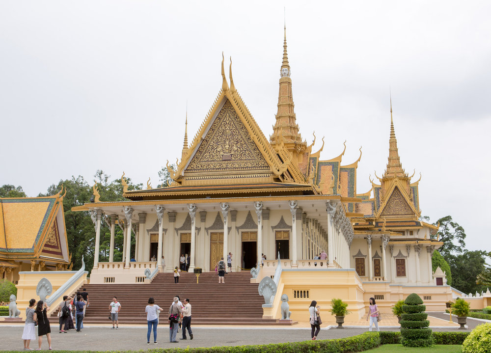Golden spires at Phnom Penh's Royal Palace.