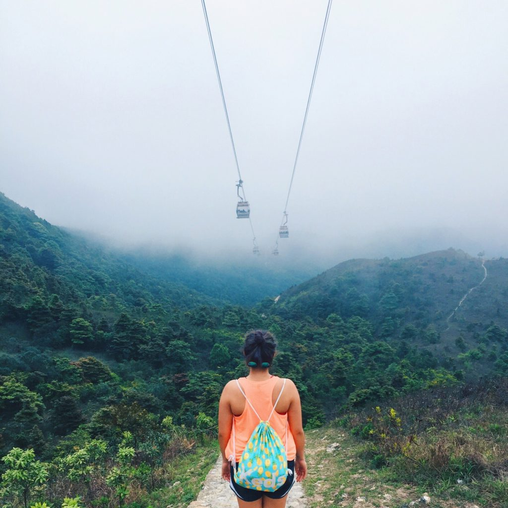 Cable cars on the Tung Chung Rescue hiking trail