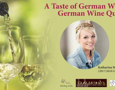 German wine-pairing dinner at Tamarind: June 13, 2018
