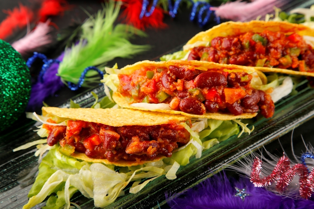 Tacos with chili beans, just one of the mouth-watering dishes on offer at the Carnivale of Action.