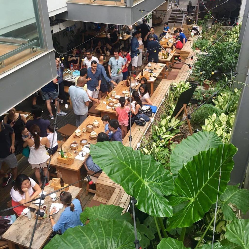 Sohofama's terrace is a popular spot to enjoy some of the best summer cocktails in Hong Kong.