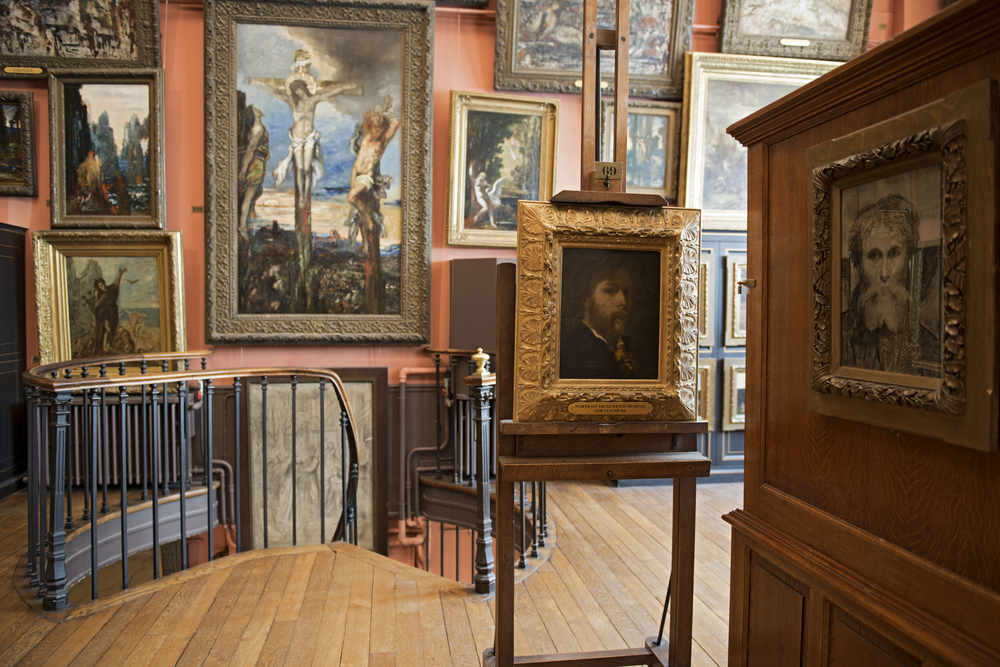 The preserved studio of artist Gustave Moreau at the Musee Gustave Moreau, a painter's studio turned insightful Parisian museum.