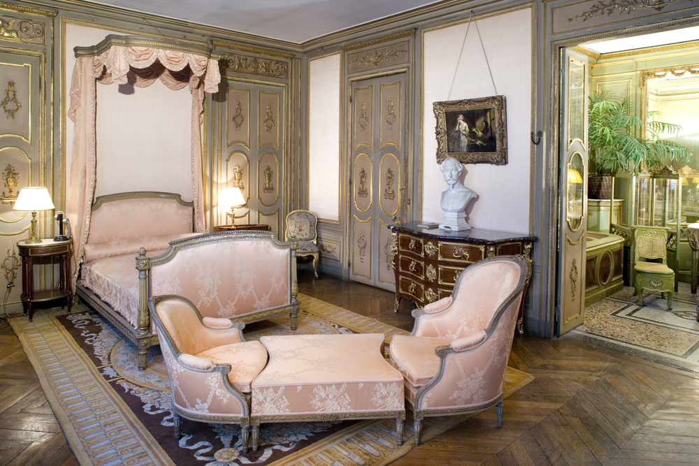 A private bedroom at the Musee Jacquemart-Andre, a one-time family home turned one of the most eclectic Parisian museums.