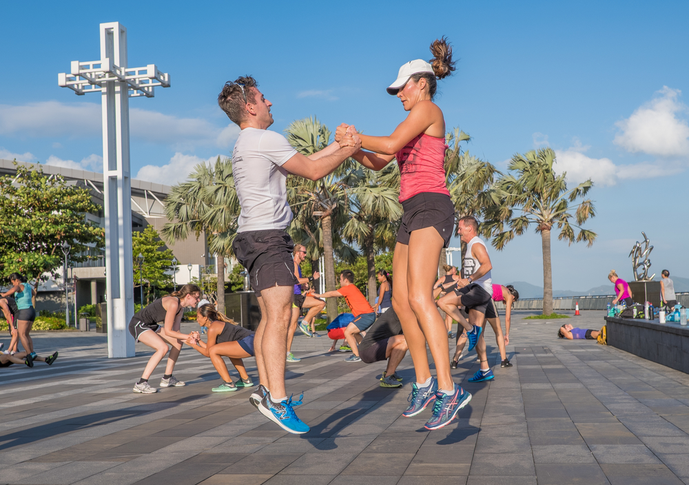 For summer workouts in Hong Kong, November Project takes exercising outdoors.