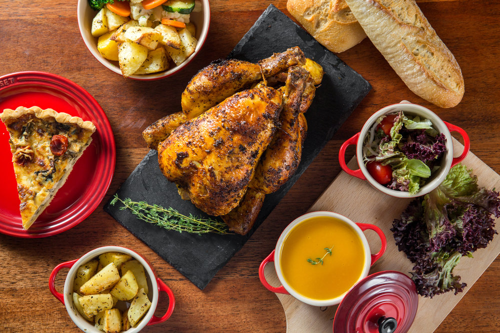 French-bred free-range chicken will take centerstage at La Rotisserie's Bastille Day celebration.