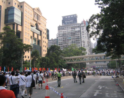 Thousands Protest at Annual March on HKSAR Establishment Day