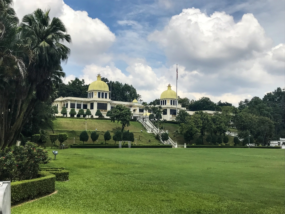 The lawn and main hall of the Istana Negara. Photo: Gayatri Bhaumik