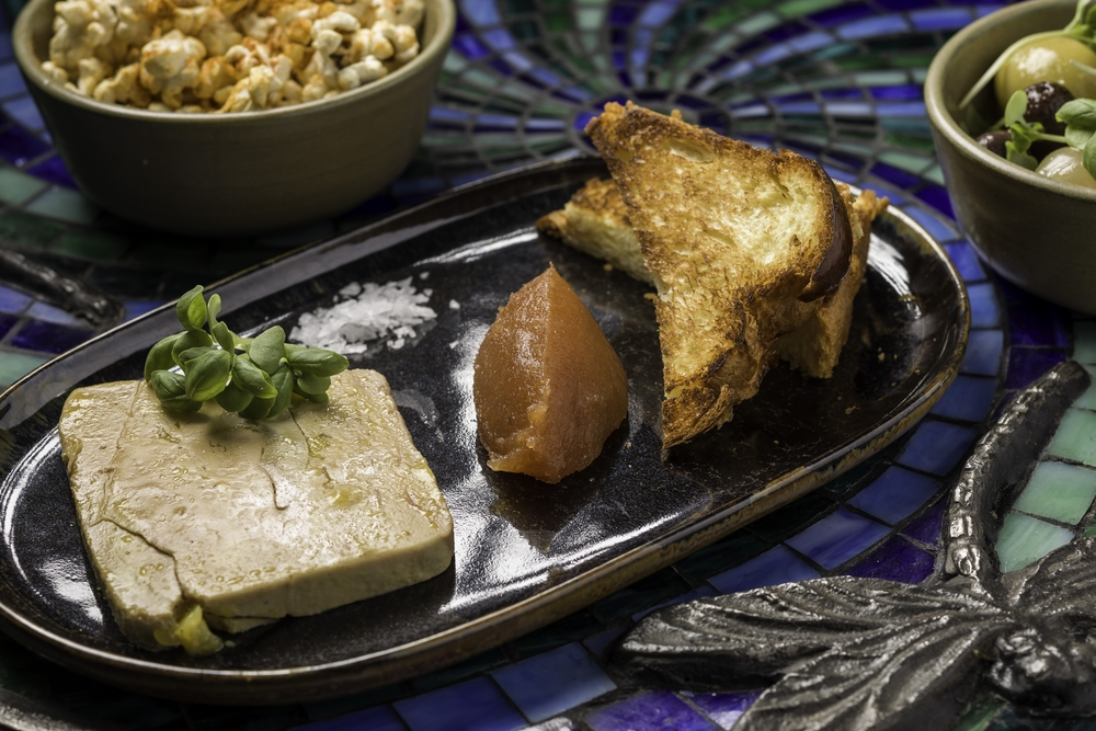 Foie gras terrine, quince paste and brioche at Dragonfly.