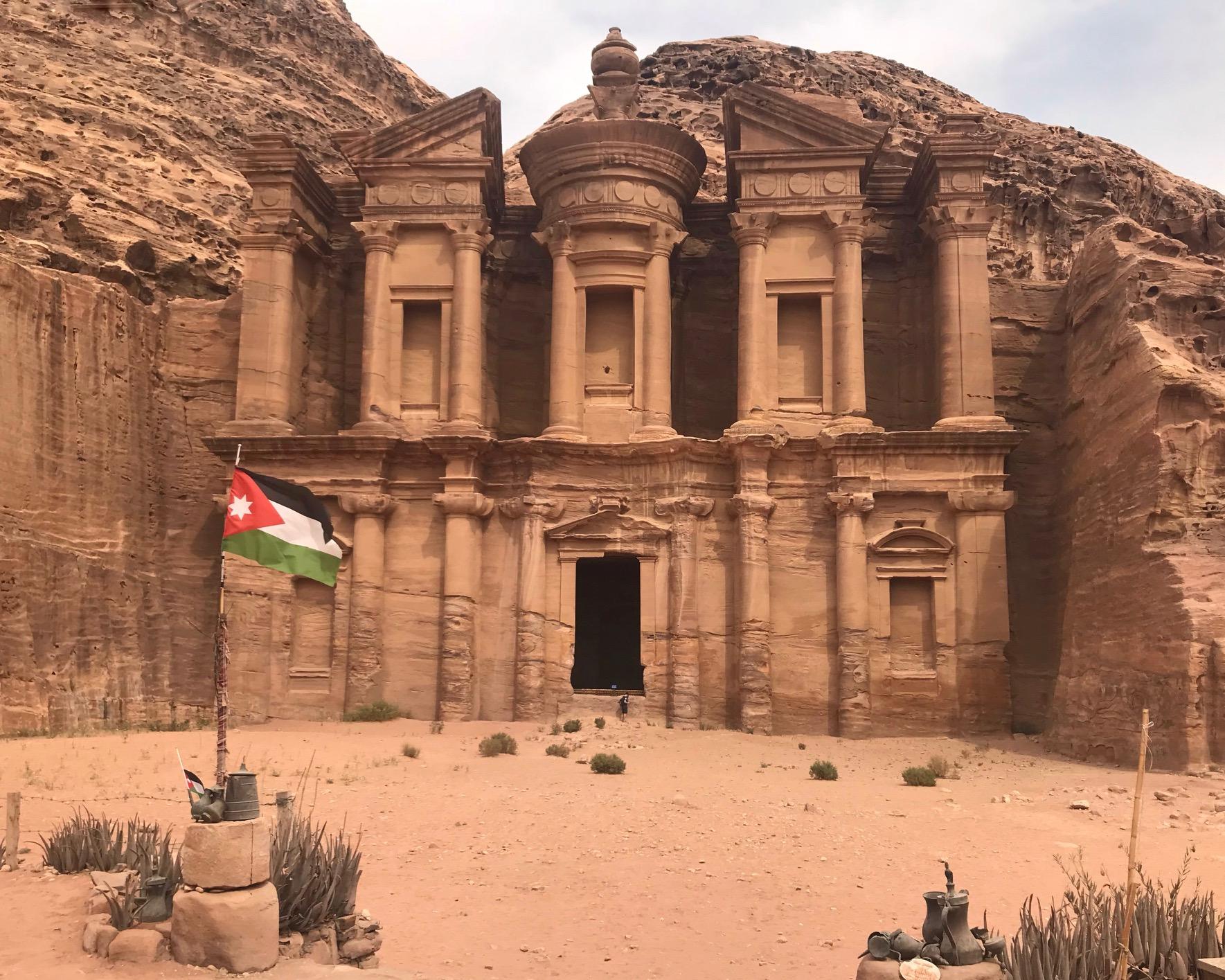 The façade of the Monastery is even more impressive than the Treasury. Photo: Gayatri Bhaumik.