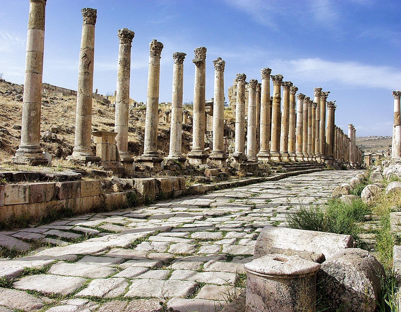 Jerash, the Roman ruin city of Jordan.