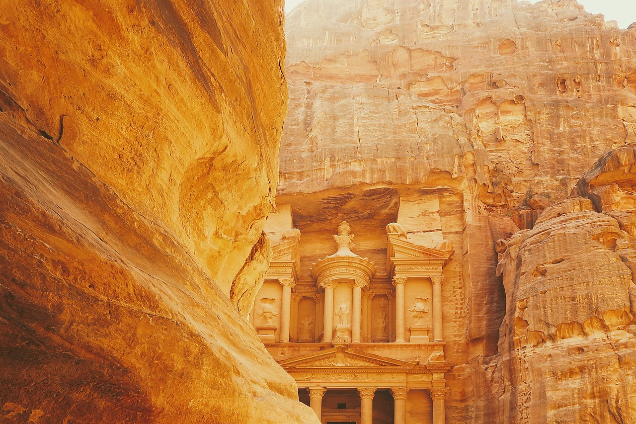 Petra, one of the most visited sites in Jordan.