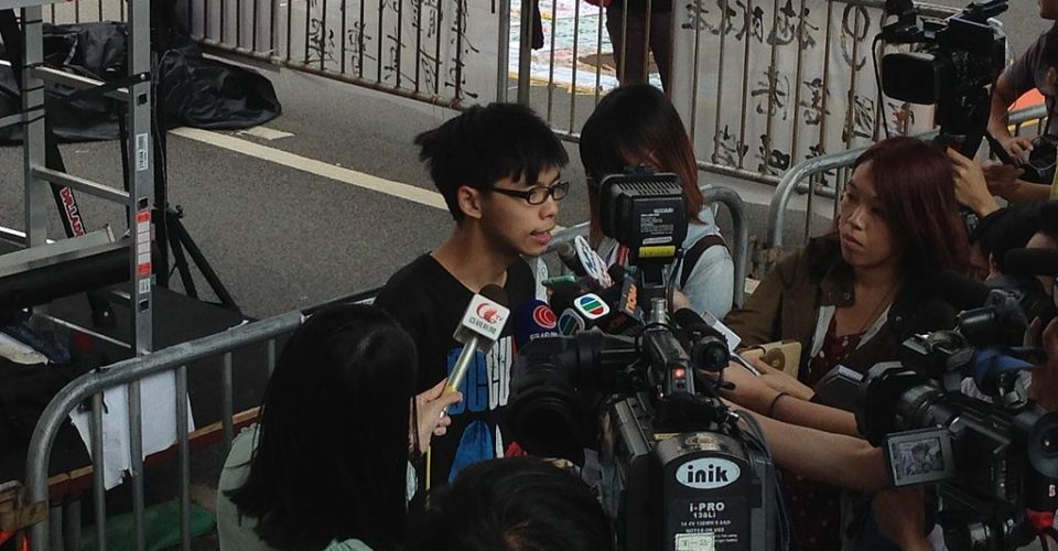 Joshua Wong is leader of the Demosisto party. Photo: Seader via Wiki Commons