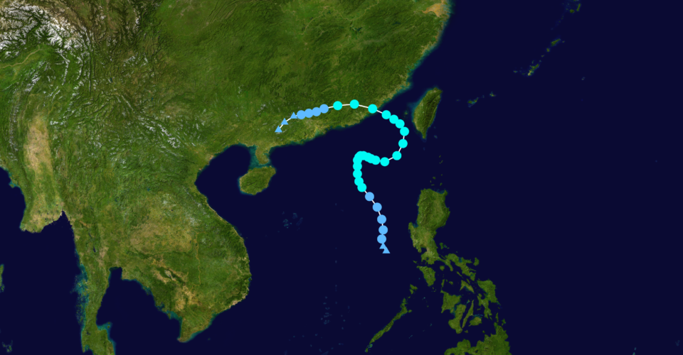 Typhoon Lionrock in 2010, which avoided Hong Kong