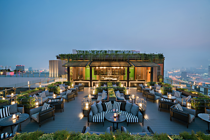 Bangkok Marriott marquis queen's park bar rooftop