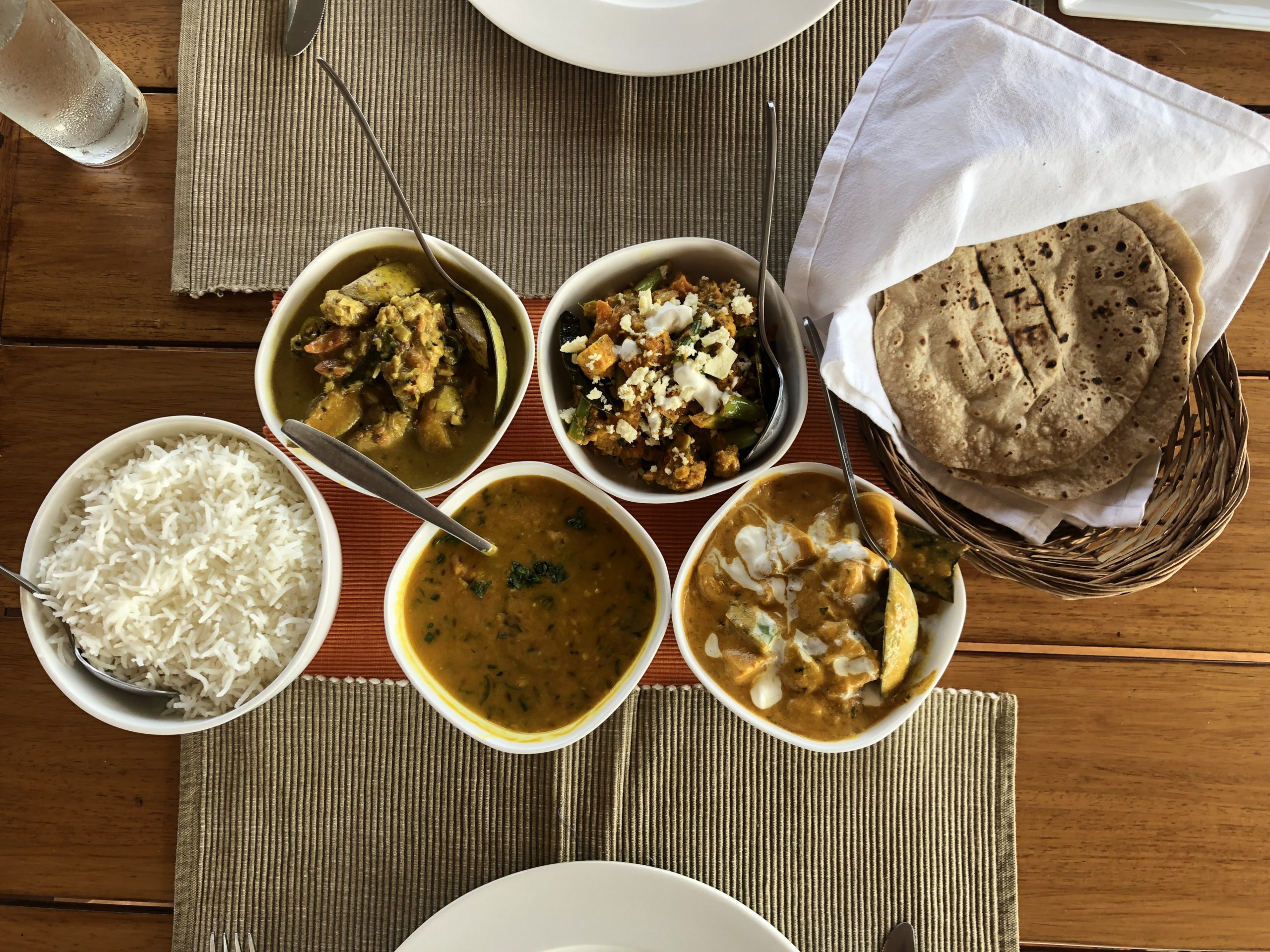 A feast aboard the Lotus Houseboat
