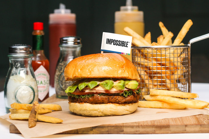 impossible burgers at morty's