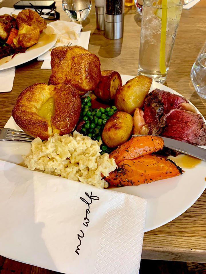Sunday roast at Mr Wolf
