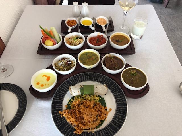 a meal at evolve back kamalapuna palace