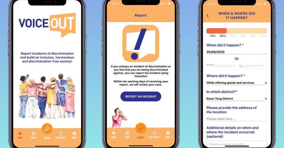 anti-discrimination VoiceOut! app