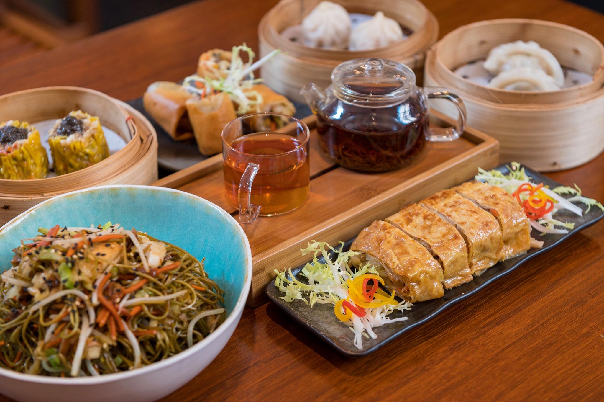 a feast at Lock Cha Teahouse