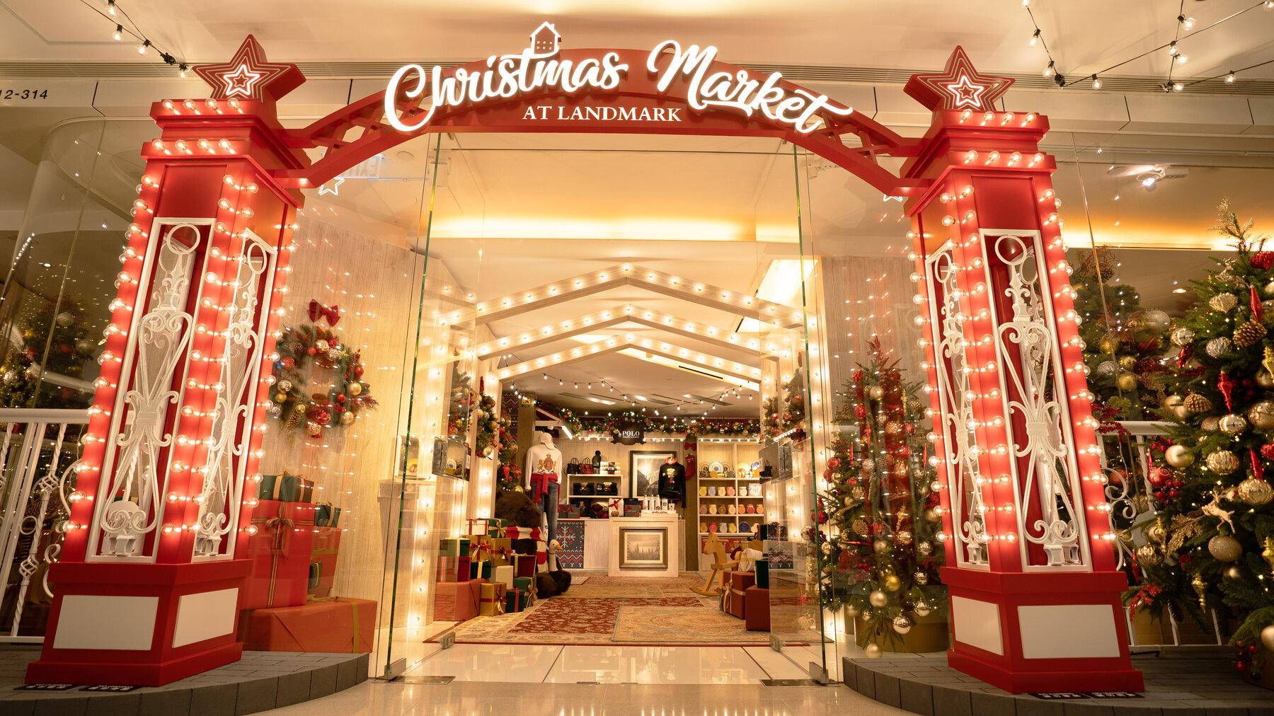 landmark Christmas market facade
