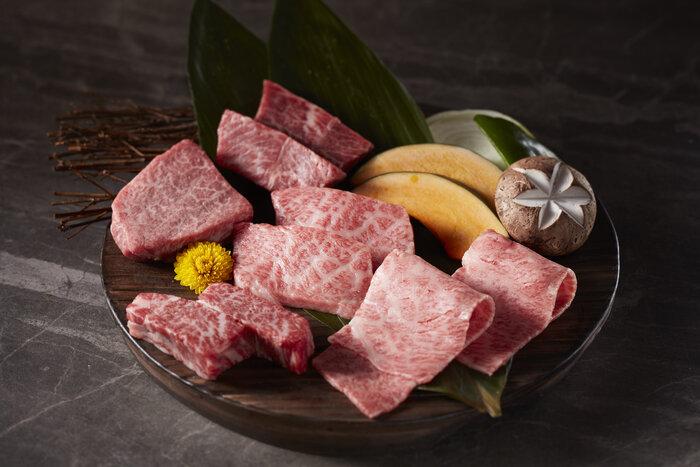 beef omakase platter at yakiniku ishidaya