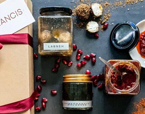 弗朗西斯在家中推出了中东美食篮,供人们享用地中海美食