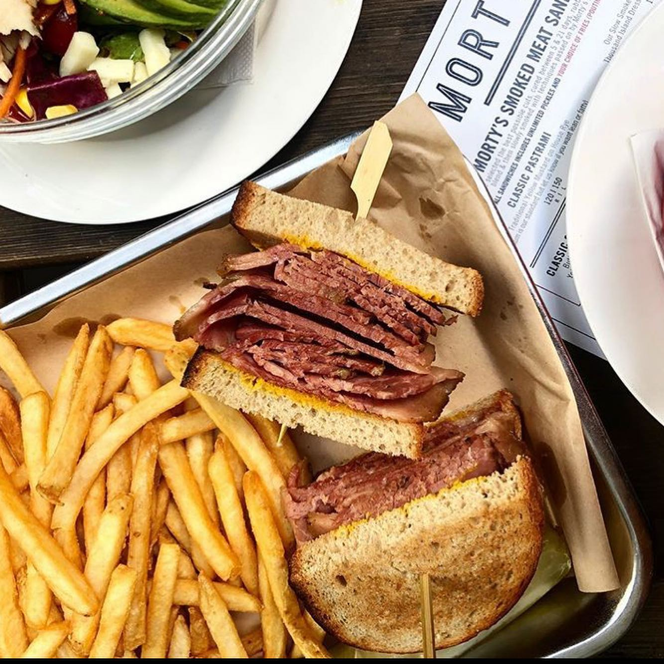 Ruben sandwich and fries