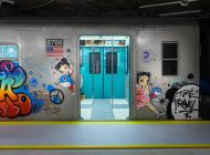 参观今80年代纽约地铁,在中央街道艺术传奇COPE2