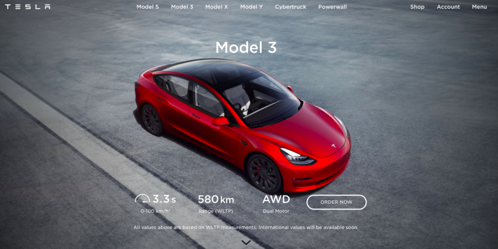Tesla 3 Long Range up for grabs